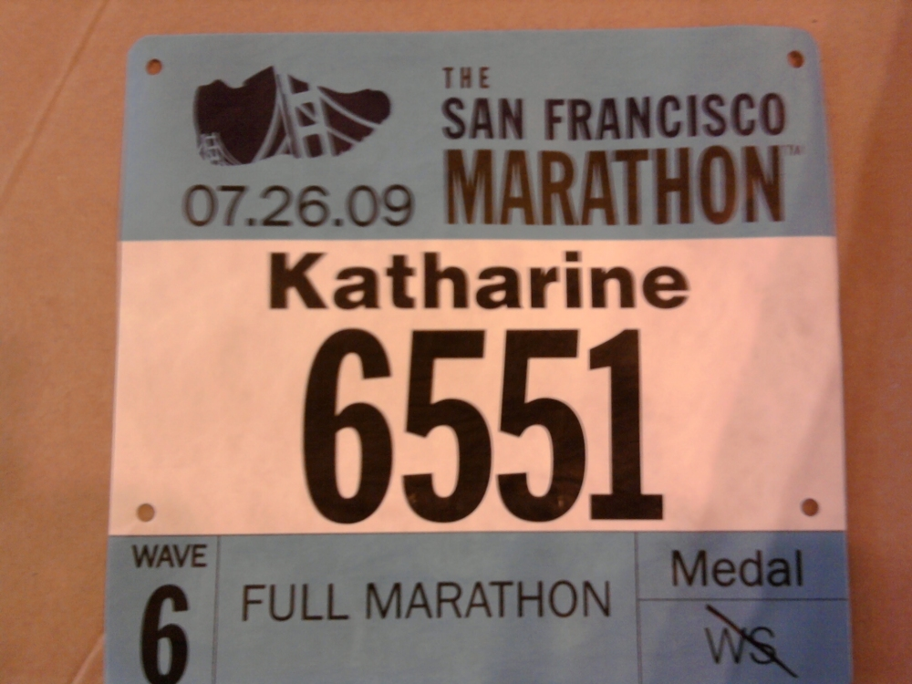I like to make up crazy equations with the numbers in my race bibs.