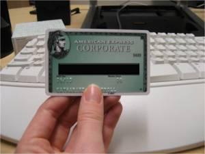No more Corporate AMEX card
