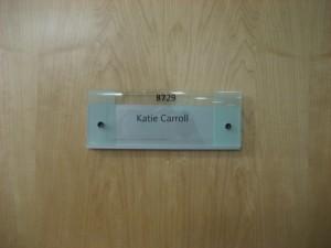my office door nameplate