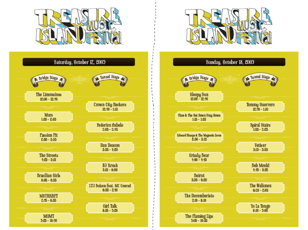 treasure island music festival line-up