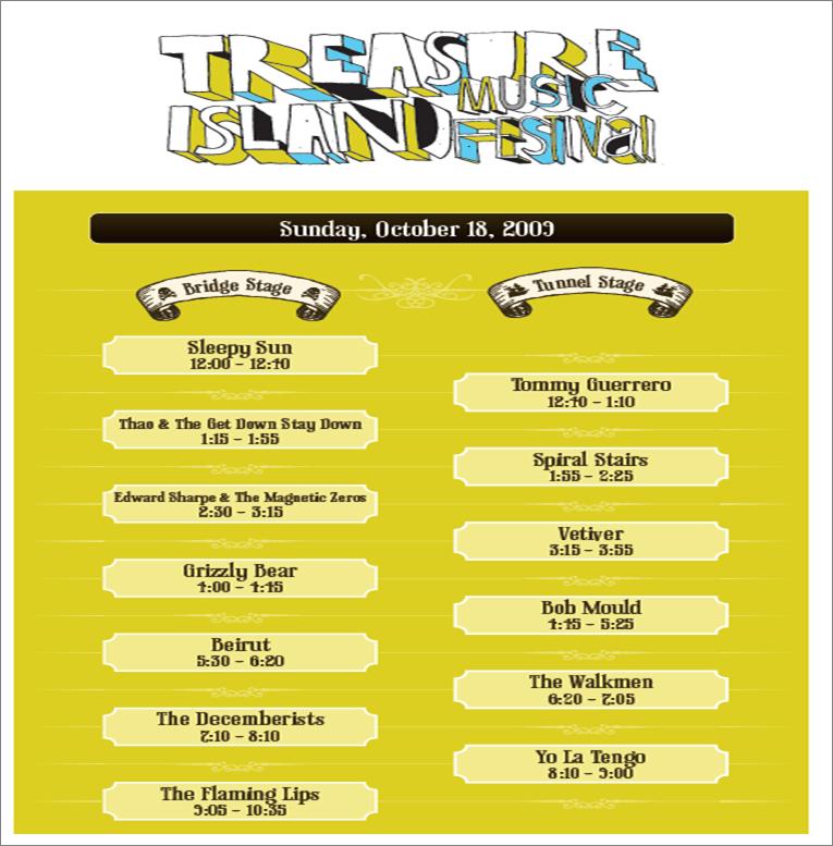 treasure island music festival line-up, day 2